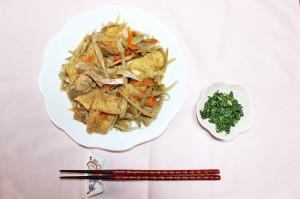 鶏肉と根菜のうま煮&セロリの葉とちりめんじゃこの佃煮2
