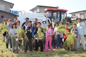 稲刈り/皿垣小学校