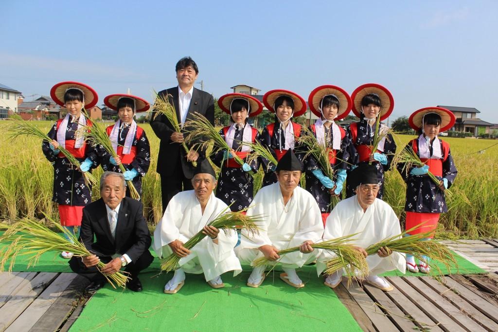 柳川地域良質米生産支援協議会水稲・粟抜穂祭 ②