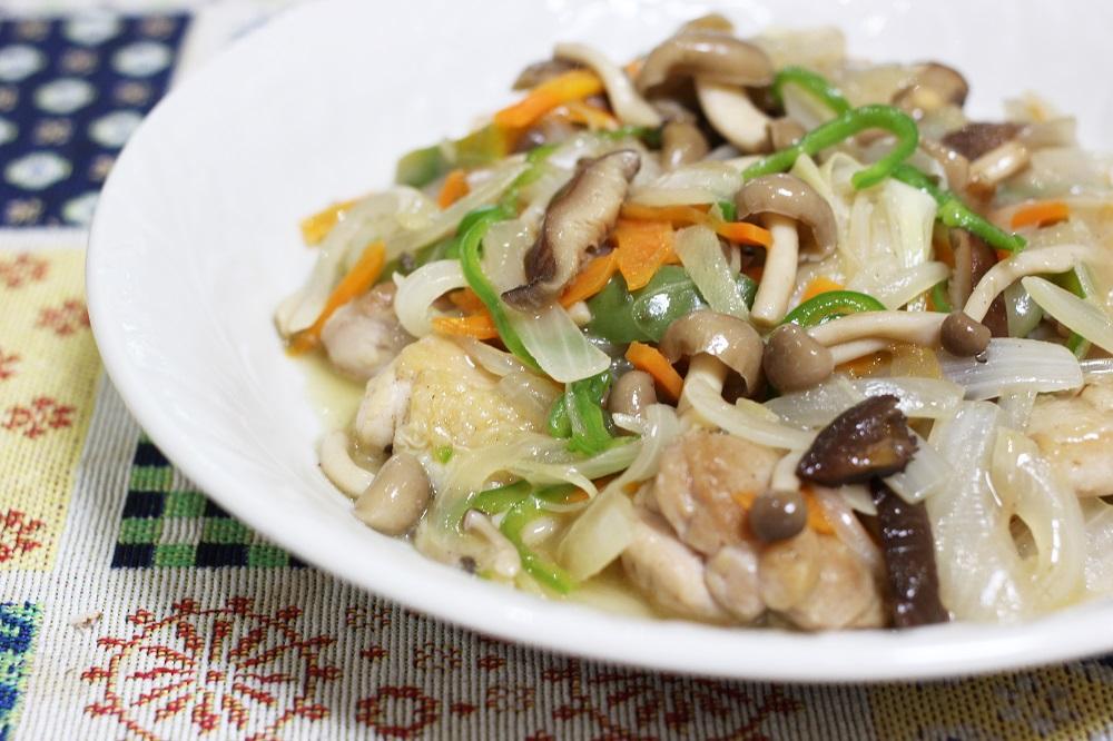 我が家の逸品「鶏と野菜のあんかけ炒め」