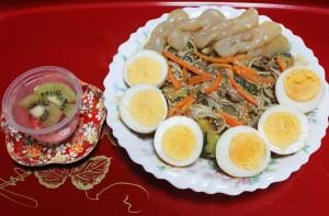 【料理】我が家の逸品「冬瓜とカボチャのあんかけ炒めとイチゴゼリー」