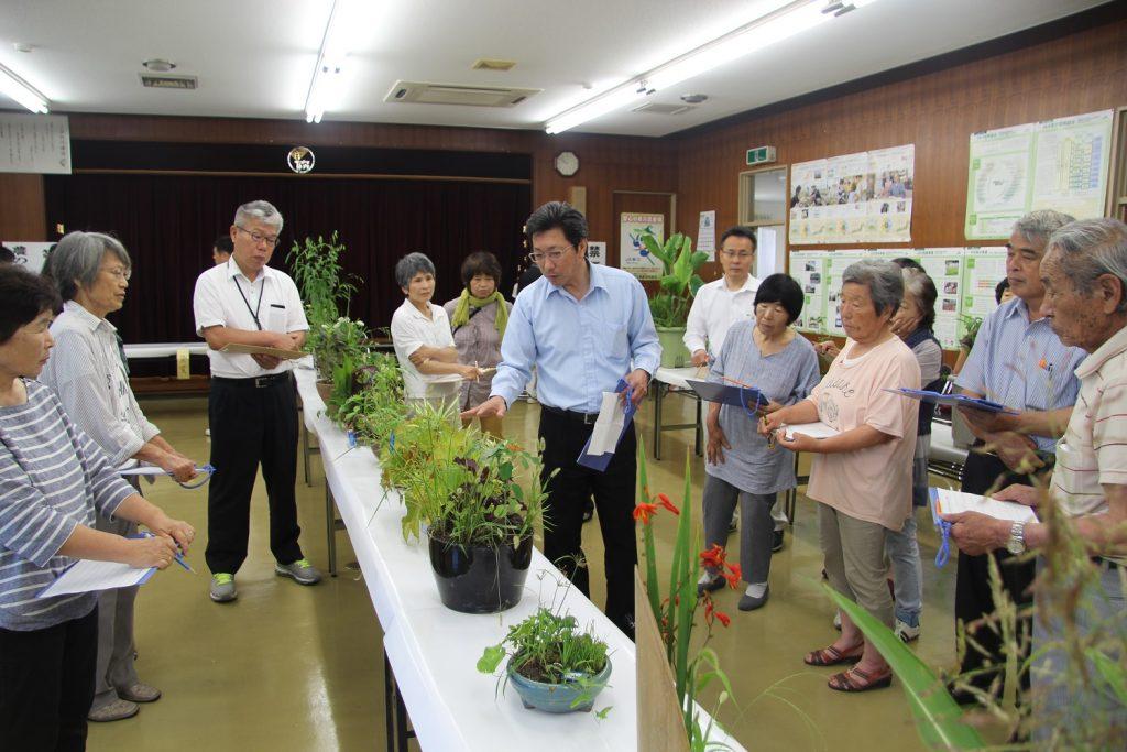 農の生け花品評会