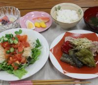 素麺サラダ・ピーマンの姿煮